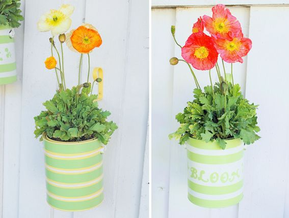 Recycled Paint Can Planters. Top 30 Planters   DIY and Recycled