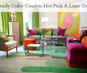 Trendy Color Combo: Hot Pink & Lime Green