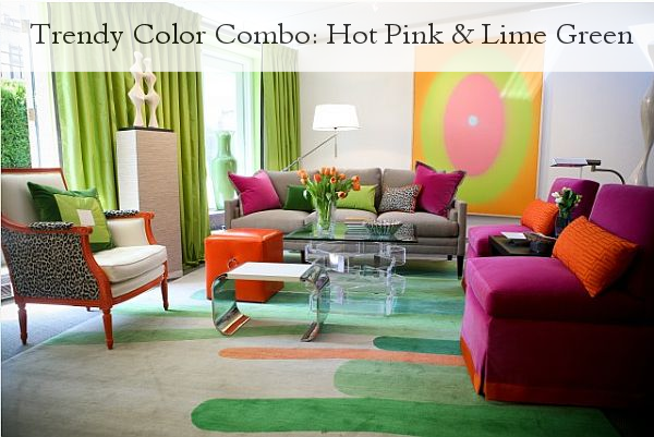 Superior Trendy Color Combo: Hot Pink U0026 Lime Green
