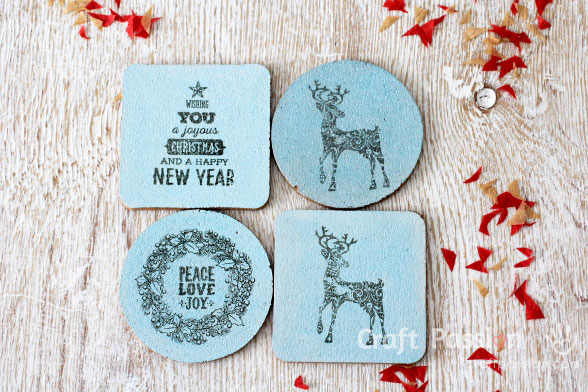 Winter themed coasters