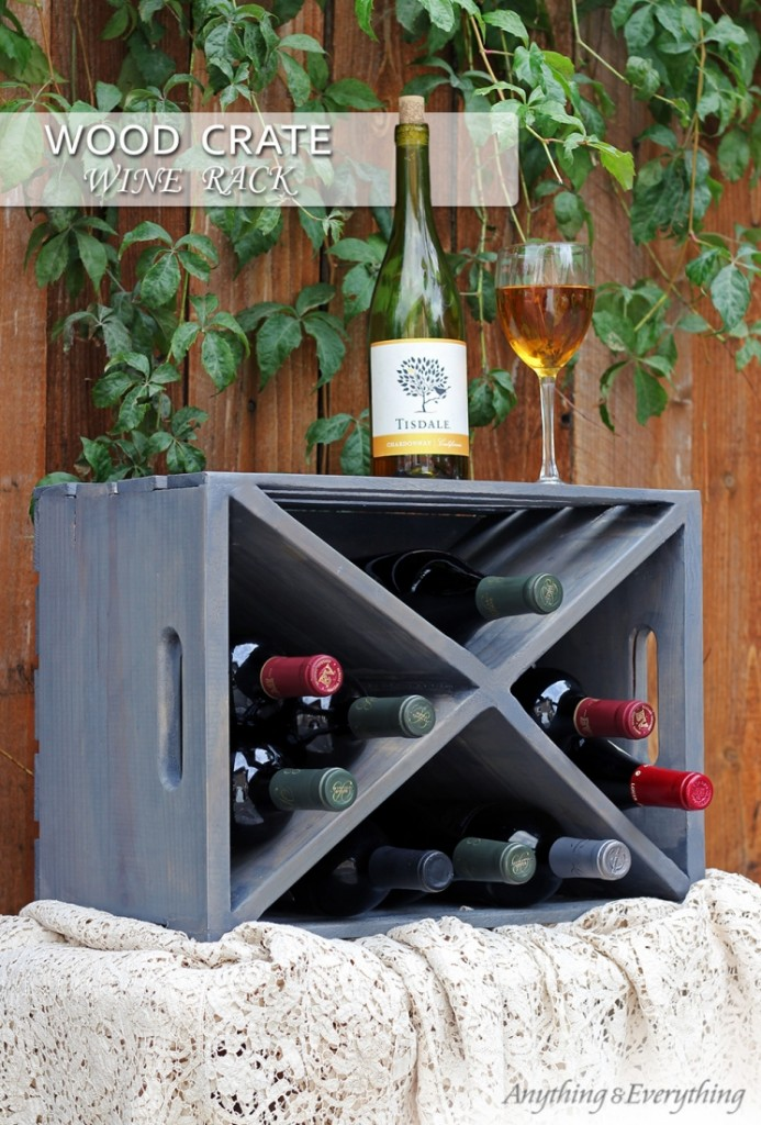 Wood crate for wine storage