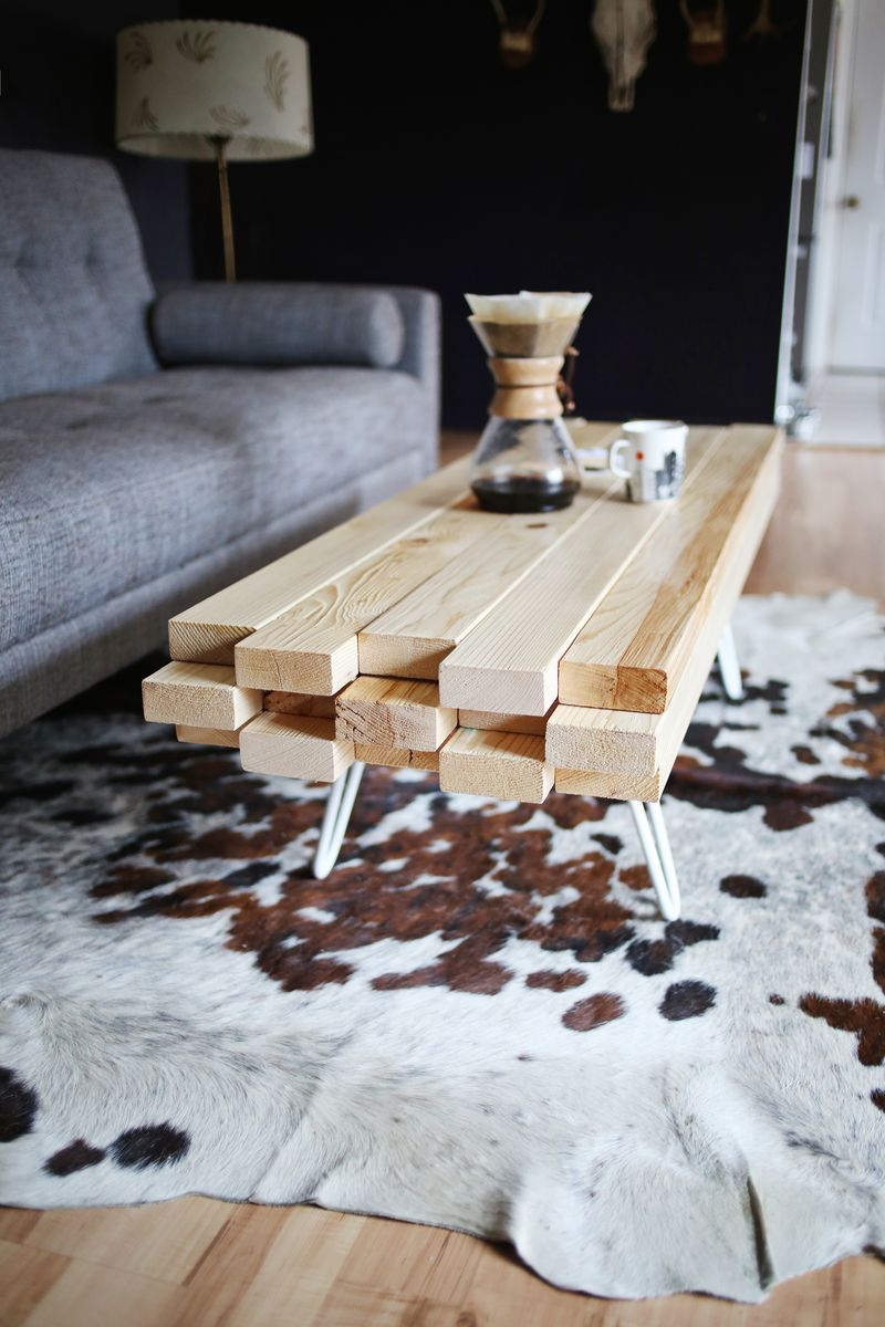 Wooden coffee table you can do yourself