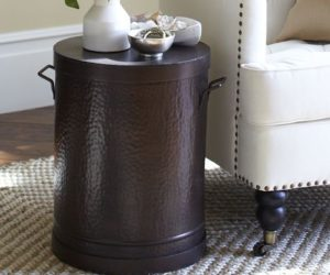 Antique Rain Drum Side Table The Rawson Metal Accent