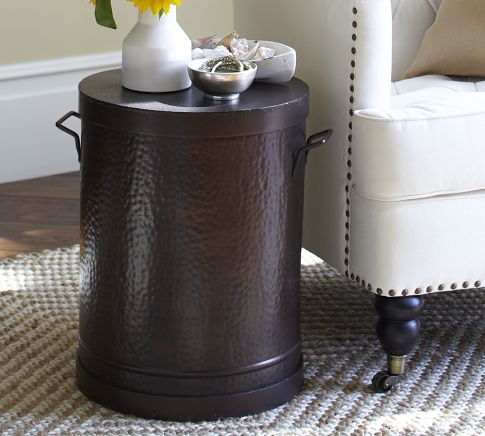 The Rawson Metal Drum Accent Table