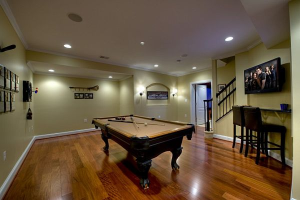 Small Basement Remodel With Bar