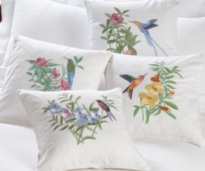 Bring Spring Into Your Home And Let The Freshness Envelop It · Embroidered  Hummingbird Throw Pillows