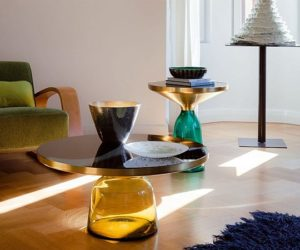 Bell Glass Coffee table for Living Room