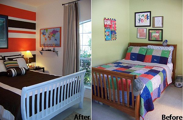 Before and after boy s room transformation for Room decor for 6 year old boy