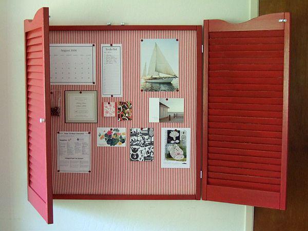 Diy Bulletin Board With Shutters