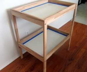 Creative DIY project: changing table turned into an office desk
