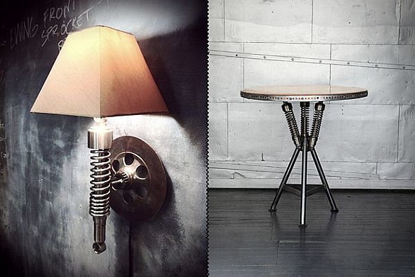 The Classified Moto Furniture Collection For Motorcycle Lovers