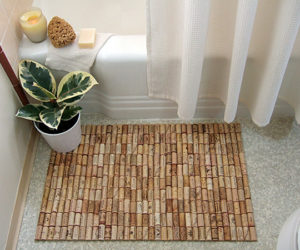 Creative wine cork bath mat