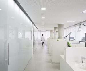 Clean White Dental Office Interior Design in Spain
