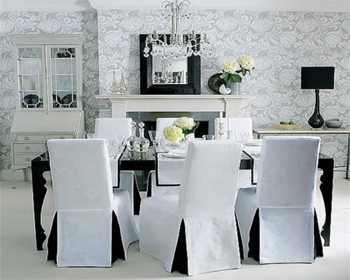 Ideas For Dining Room Chair Covers 11 chair covers that can transform your dining room