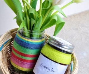 Colorful May Day DIY Gift Basket Colorful May Day DIY Gift Basket · Practical  DIY Woven Cork Ikea Skala Tray