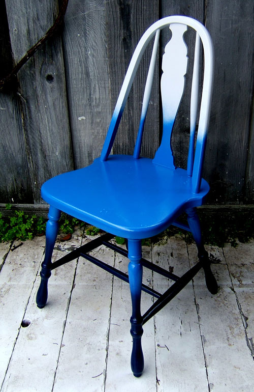 High Quality DIY Blue Ombre Fades Color Chair Images