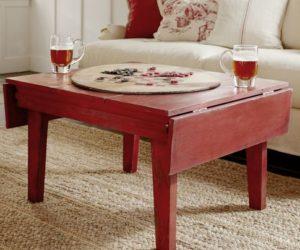 The rustic Eastlake drop-leaf coffee table