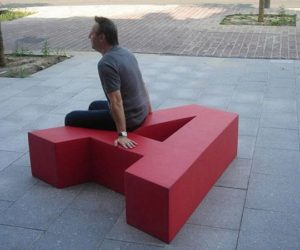 The A garden bench by Pieter Jamart