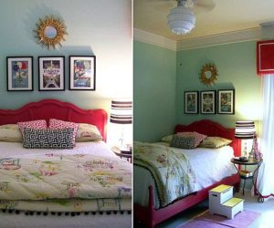 Stylish pink girl's room interior design