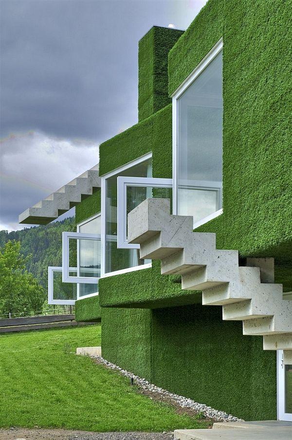 zielona elewacja