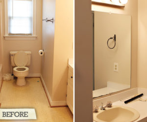 Before and After: Hall Bathroom Renovation