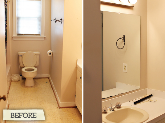 Before and after hall bathroom renovation for 2nd bathroom ideas