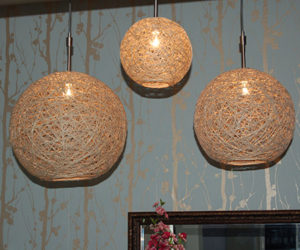 How to make hemp string pendant lamps