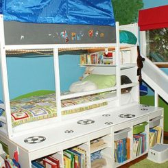 Playful Bed For Kids With Built In Slide