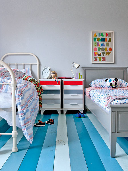 Creative Striped Flooring Patterns Mathwatson - Amazing-black-and-white-dclubcaffe-design