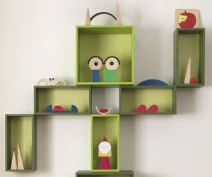 The funny and friendly Box wall cabinet for kids