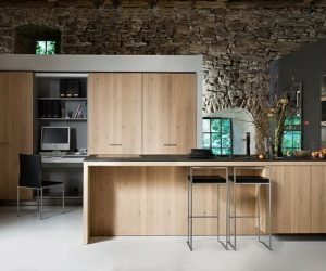 Beautiful kitchen with built in desk