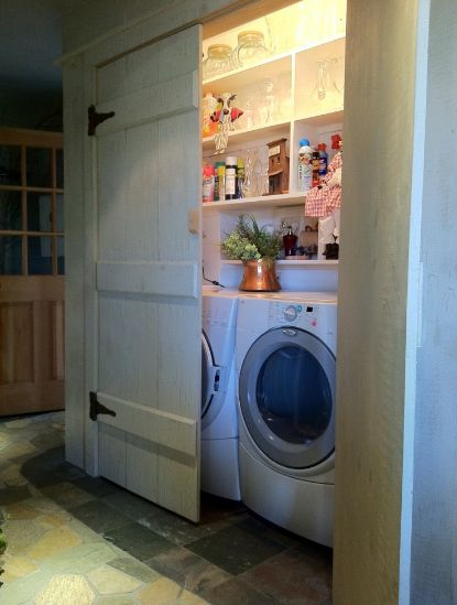 Laundry room in a cupboard