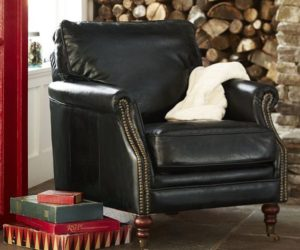 The Bilson leather club armchair