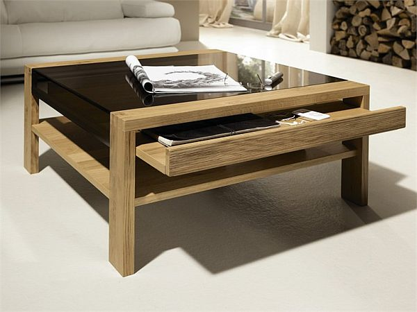 The ct 120 coffee table by h lsta for Table in living room