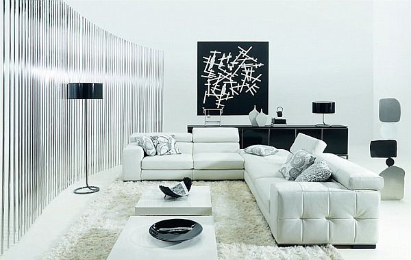 Attrayant How To Decorate Your Living Room Using Black And White