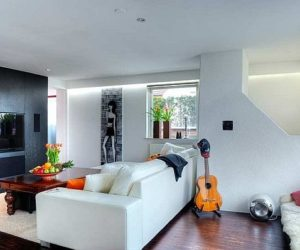 Spacious penthouse and carefully compartmentalized