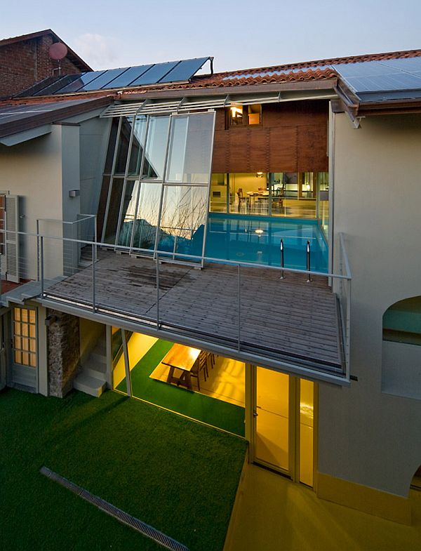 House 1st Floor Balcony Design: From An Old Barn To A Modern Residece With Swimming Pool