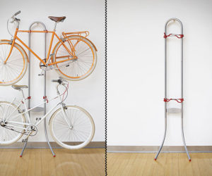 Save space on your house with a bike rack