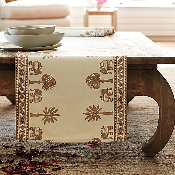 Elephant Mombasa Table Runner Design
