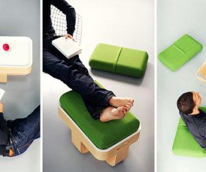 Multifunctional T Furniture by  Antoine Lesur
