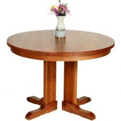 New England Round Extension Pedestal Table