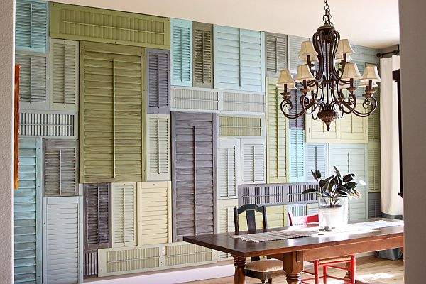 Creative Ways Use Old Shutters