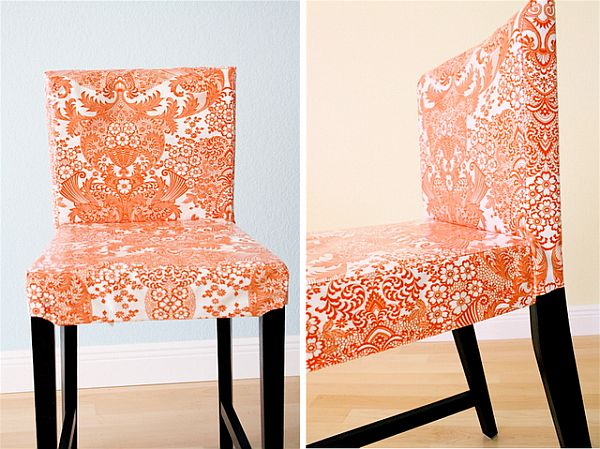 11 Chair Covers That Can Transform Your Dining Room : orange chair cover from www.homedit.com size 600 x 449 jpeg 68kB