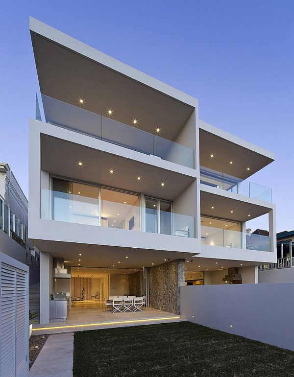 Contemporary duplex in sydney by mpr design group for Modern duplex house designs