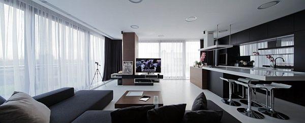 Modern apartment interior design in Romania