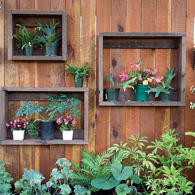 High Quality DIY Shadow Boxes On A Fence.
