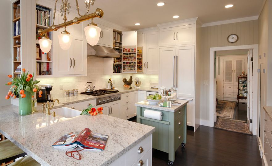 How To Save Space With A Kitchen Island - Small-square-kitchen