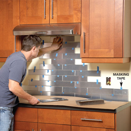 View in gallery - Top 20 DIY Kitchen Backsplash Ideas
