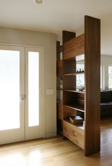 Storage units used as room dividers