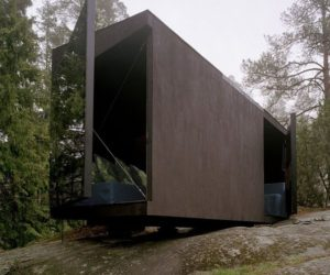 Black Summer Cabin Into The Woods